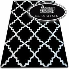 6Größen Modernen Weich Teppich SKETCH F343 schwarzweiß Marokkanisch Klee Modisch
