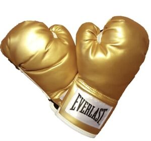 EVERLAST Gold 12oz Wrist Strap Training Boxing Gloves Model P00000161