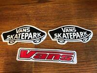 Vintage VANS SKATEPARK Sticker Lot Of 3