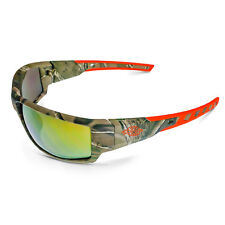 3cc66296f83 Crossfire Safety Glasses Cumulus Gold Mirror Lens and Camo Frame Sunglasses