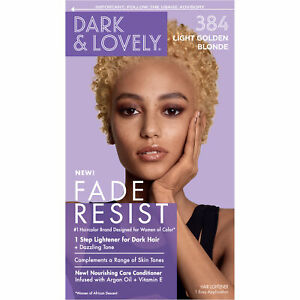 Dark And Lovely Fade Resist Rich Conditioning Hair Color 384 Light Golden Blonde