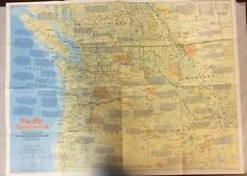 The Pacific Northwest Map (1986) National Geographic Society OldPaperMaps.com