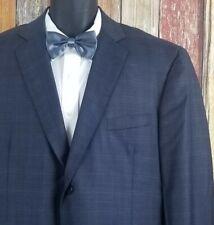 Bespoke Custom Wool Blue Plaid Sport Coat Blazer 48R Working Cuffs 2B 2V