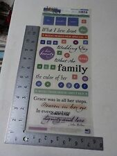 Sticko Phrase Cafe Memories Of Her Clear Words Stickers Scrapbooking A2454