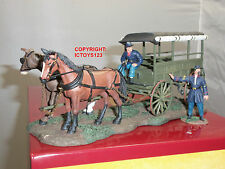 BRITAINS 31052 UNION RUCKER HORSE DRAWN AMBULANCE WAGON TOY SOLDIER FIGURE SET