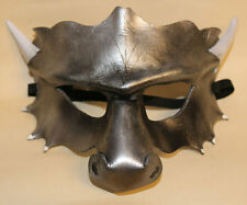 Silver Dragon Mask Handmade Leather Venetian Masquerade