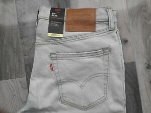 LEVIS FLEX 511 Slim Fit Stretch Denim Light Blue Jeans 04511-5004