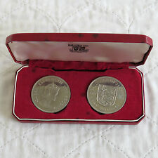 JERSEY 1966 2 CROWN PROOF SET - BOXED