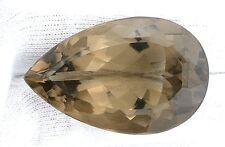 110.50 Carat Natural Pear Teardrop Natural Smoky Quartz Gem Stone Gemstone ES965