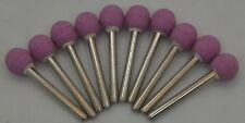 "10 X 3/8"" Round Pink Ball Stone Alum Oxide bit Dremel's or Rotary Tools"
