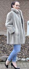 US632 Graceful Mink Fur Jacket Coat full skins Gray Pelliccia Nerzjacke ~XL/ 2XL