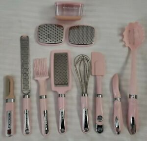KITCHENAID & CUISINART (LOT OF 9 ITEMS) PINK Kitchen Cooking Utensils PRE-OWNED