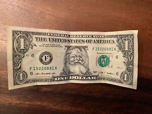 The Santa Claus $1 Dollar Bill