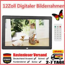12Zoll Digitaler Bilderrahmen Wecker Player 2USB MP3/4 WMA 1280*800 HD Schwarz P