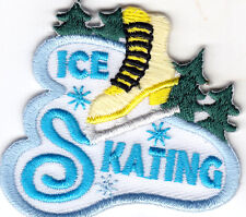 """ICE SKATING"" - SPORTS - ICE SKATE - SKATER - Iron On Embroidered Applique Patch"