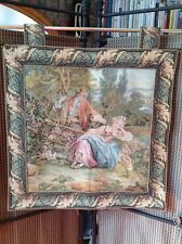 BEAUTIFUL ROMANTIC TAPESTRY WALL HANGING, LINED, WITH TABS, 23x23in,High Quality