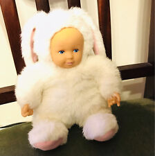 Anne Geddes White Rabbit Bunny Baby Bean Filled Doll Collectable