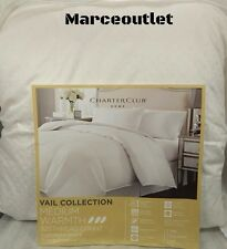 Charter Club Vail Medium Warmth Level 3 Damask Dot KING Down Comforter