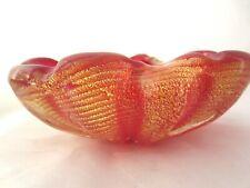 Murano Art Glass Barovier Toso XXL CORDONATO D'ORO 24k GOLD corde Ciotola 1.1kg