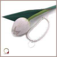 Bracciale da donna con ciondolo Cuore in argento braccialetto con palline