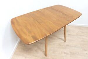 Midcentury Vintage Ercol Plank Table Blonde Drop Leaf 1960's /1638