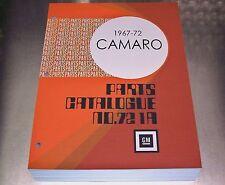 67-72 CAMARO MASTER PARTS CATALOG July 1972 printing