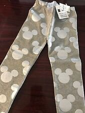 Baby Gap Toddler Girl Disney Leggings Size 4 pants Mickey Minnie Mouse grey