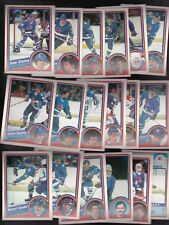 1984 OPC Team SET lot of 18 Quebec NORDIQUES LEAFS NM/MT o-pee-chee STASTNY