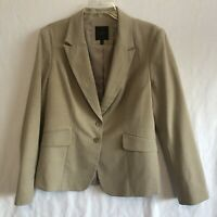 THE LIMITED COLLECTION Khaki Tan Structured Blazer Suit Jacket Womens Size 14