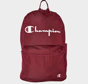 Champion Backpack Unisex Authentic Frequency Bag Dark Red Padded Laptop Sleeve