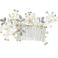Wedding Bridal Fashion Hair Piece Bridesmaid Pearl Rhinestone Alloy Hair Comb