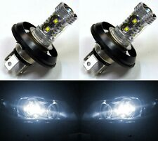 LED 50W H4 P45T 12V White 5000K Two Bulbs Head Light Replace Motorcycle Bike