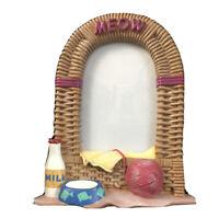 Malden International Meow 3D Resin Wicker Basket Cat Photo Frame 1996