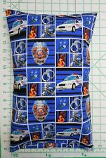POLICE Cars Badge Handcuffs - Small Pillow Case with Travel / Toddler Pillow