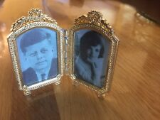 John F. Kennedy & Wife Framed Picture 1970s Small Just Lovely-rare