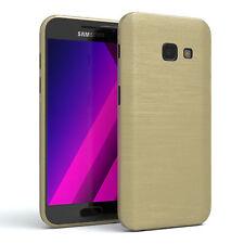 Schutz Hülle für Samsung Galaxy A3 (2017) Brushed Cover Handy Case Gold