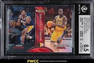 1999 Finest Double Feature Refractor Kobe Bryant Shaquille O'Neal BGS 8.5 NM-MT+