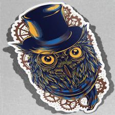 Steampunk Owl Cute Lovers Business  Vinyl Sticker Decal Window Car Van Bike 3153