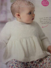 Knitting Pattern-Baby  Pretty  Tunic, Dress  In Baby 4Ply- Sizes Premature -2yrs
