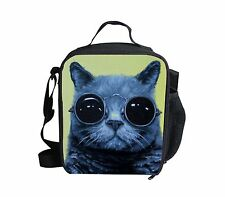 Fashion Cat Thermal Insulated Lunch Bag Food Container Picnic School Cooler Bags