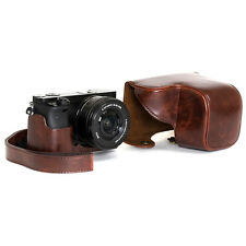 Leather case strap camera bag for Sony alpha a6000 A6300 With 16-50mm Lens Nice