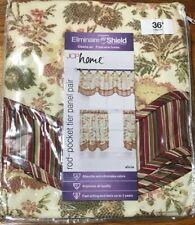 """JCP Home Eliminaire Shield Alicia Pureti 30x36"""" Rod Pocket Tier Curtain Multicol"""