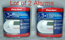 1st Alert 3in1 Explosive Gas Propane Natural & Carbon Monoxide 2 Alarms GC01CN