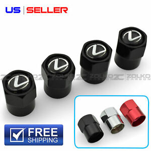 VALVE STEM CAPS WHEEL TIRE FOR LEXUS 4PC 3 COLOR OPTION - HX25 HX27