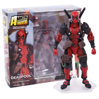 SCI-FI Revoltech Series 001 Deadpool PVC Action Figure Collectible Model Toy