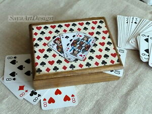 Wooden Playing Cards Box. Jewelry or Trinket Box. Gift For Men.