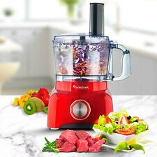 TurboTronic Powerful Electric Food Processor RED