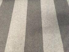 Osborne & Little Wool Stripe Upholstery Fabric- Wharral / Grey 3.90 yd F6255-03