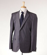 NWT $895 HUGO BOSS Medium Gray Woven Stripe Wool Suit 42 L 'Grand/Central'