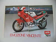 advertising Pubblicità 1988 MOTO APRILIA AF1 AF 1 125 REPLICA PROJECT 108